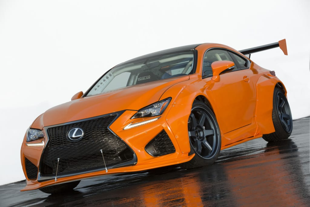 The 2016 RC F by Gordon Ting/Beyond Marketing, which premiered at SEMA 2015. Phot courtesy of Toyota/Lexus.