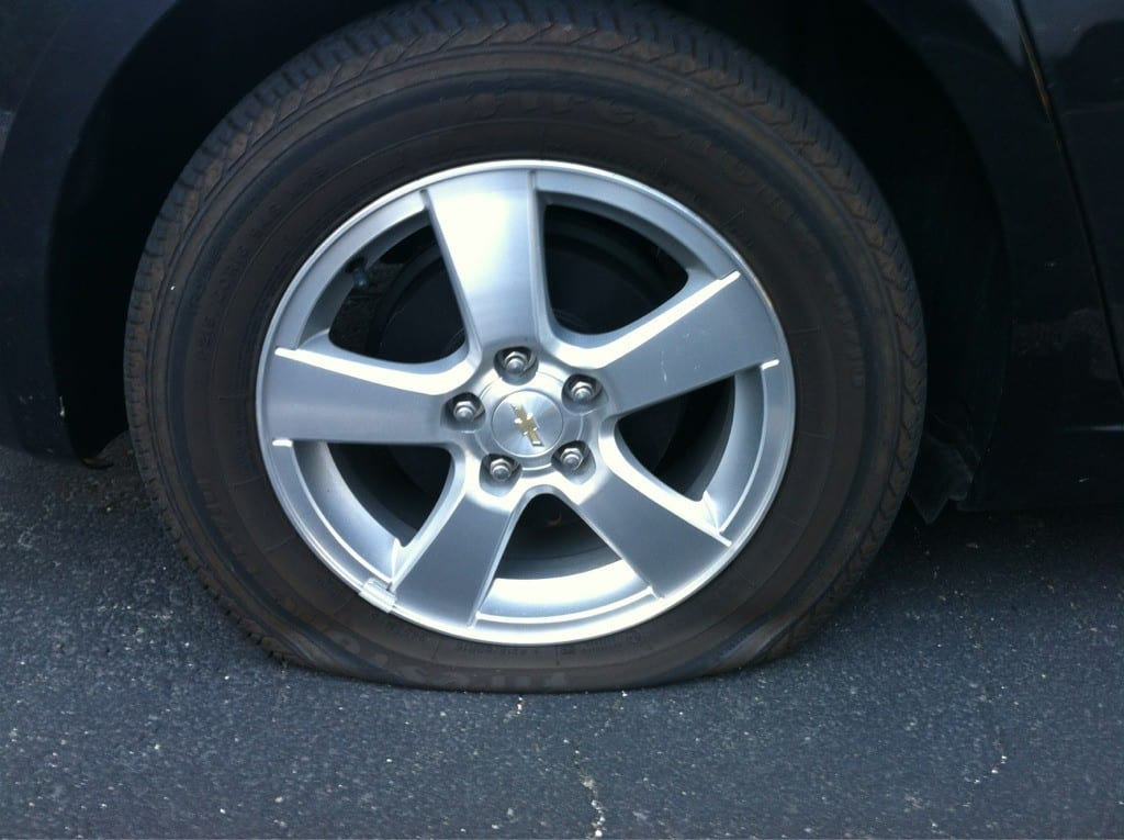 Flat Chevy Tire