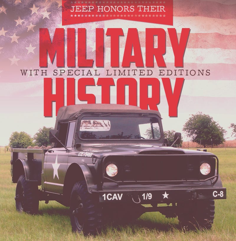 Jeep Honors Their Military History with Special Editions