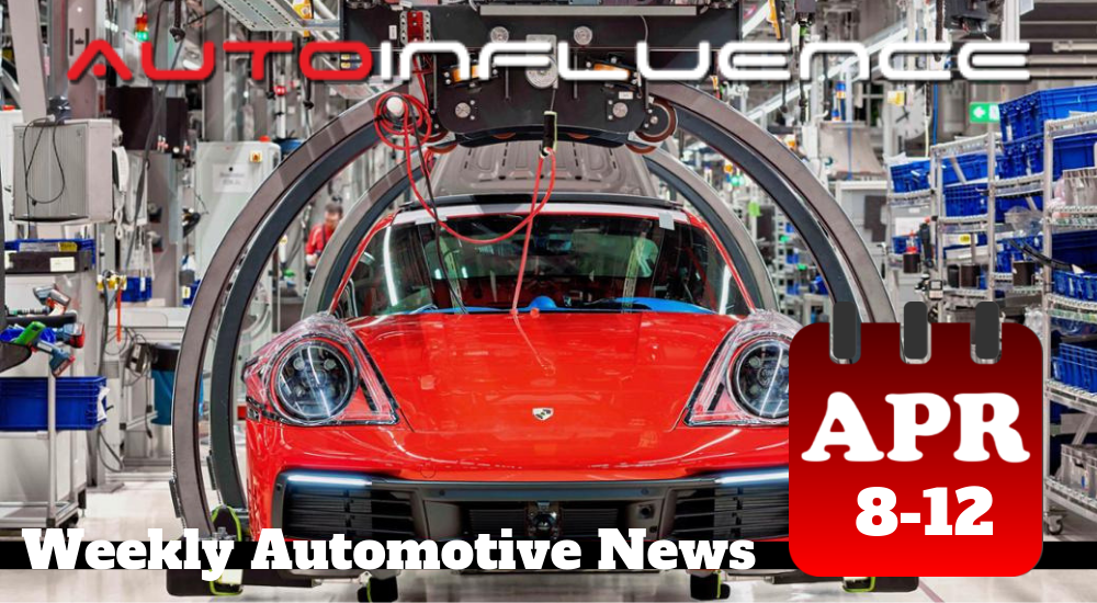 AutoInfluence Weekly Automotive News for Week of Apri 8-12 including Porsche Reduction in Carbon Emissions