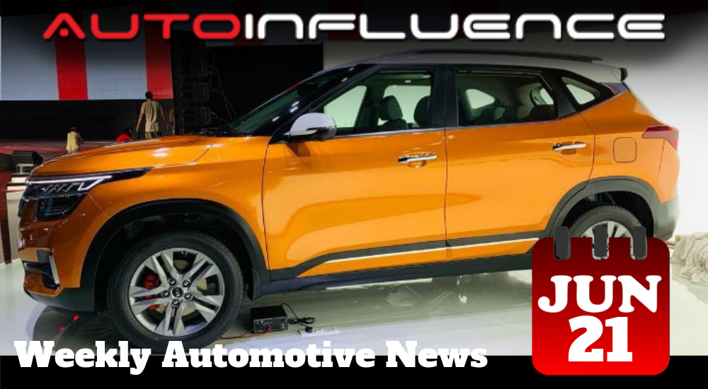 Kia Seltos (in Orange) as included in this week's automotive news from AutoInfluence
